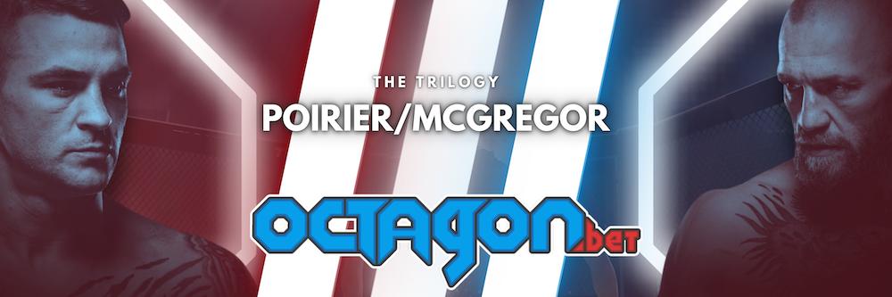 Dustin Poirier Conor McGregor UFC 264 Octagon.bet